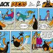 Black Ducks Comics episode 6 — Stock Vector