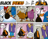 Black Ducks Comics episode 5 — Stock Vector
