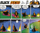 Black Ducks Comics episode 17 — Stock Vector