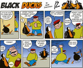 Black Ducks Comics episode 46 — Stock Vector