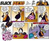Black Ducks Comics episode 34 — Stock Vector