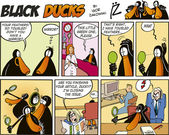 Black Ducks Comics episode 57 — Stock Vector