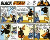 Black Ducks Comics episode 55 — Stock Vector