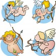 Funny cupids - Stock Vector