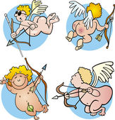 Funny cupids — Stock Vector