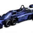 Former formula one bolide - Stock Photo