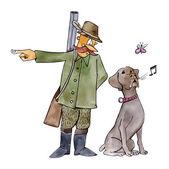 Retriever dog on hunting — Stock Photo