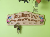 The photo shows a countrified key holder — Stock Photo