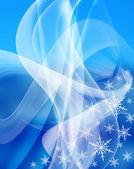 Fondo de copo de nieve azul — Foto de Stock