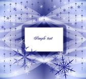 Blue snow background — Stock Photo