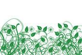 Yeşil çim ve çiçek — Stok fotoğraf