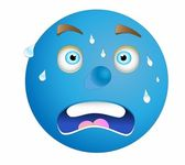 Blue stress face — Stock Photo