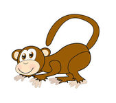 Cartoon monkey — Stock Vector
