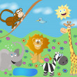 Royalty-Free Stock Vector Image: Funny zoo