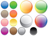 Glass buttons — Stock Vector