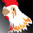 Chicken head — Stock Vector