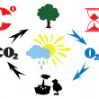 Stock Vector: Co2 cycle