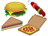Fastfood — Stock Vector
