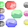 Gems — Stock Vector