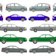 Stock Vector: Set of cars