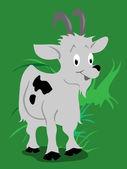 Goat cartoon — Stock Vector