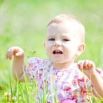 Baby girl outdoor — Stock Photo #4033745