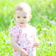 Baby girl outdoor — Stock Photo