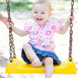 Baby girl outdoor - Stock Photo
