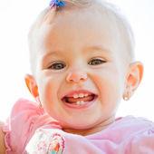 Baby girl outdoor — Stock Photo