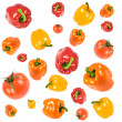 Red and green peppers — Stock Photo #4537589