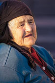 Old peasant woman — Stock Photo
