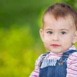 retrato de menina bebê — Foto Stock #4572649