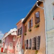 Colorful houses in Sighisoara - Stock Photo