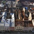 Landscape of the old city of Lviv from a height — Stock Photo