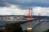 Portugal Bridge on 25 April — Stock Photo