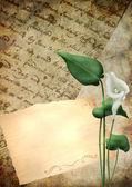 List sztuka tekstura tło — Zdjęcie stockowe