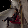 Woman waiting in the paris metro — Stock Photo
