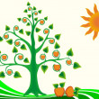 Royalty-Free Stock Imagen vectorial: Tree apple landscape