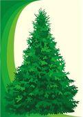 Tree fir — Stock Vector