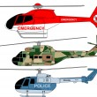 Stock Vector: Helicopters