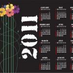 2011 Hibiscus Calendar — Stock Vector