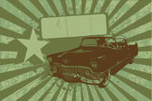 Grunge car — Stock Vector