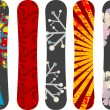 Snowboard design pack - Stock Vector