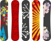 Snowboard design pack — Stock Vector