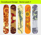Snowboard Design Pack — Stockvektor