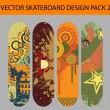 Stock Vector: Skateboard design