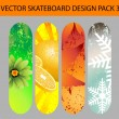 Nature skateboard design — Stock Vector