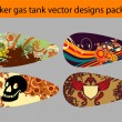 Royalty-Free Stock Vector Image: Gas tank design pack
