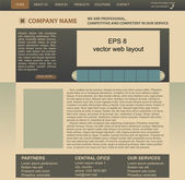 Vector web layout — Stock Vector