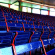 Stock Photo: Fenway Park seats